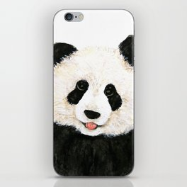 naughty little panda iPhone Skin