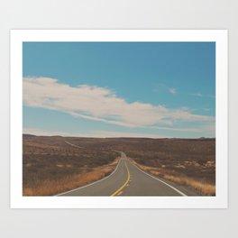 Road Trip photograph, Open Landscape Art Print