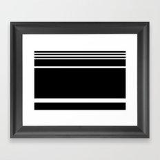 Black & White Stripes Framed Art Print