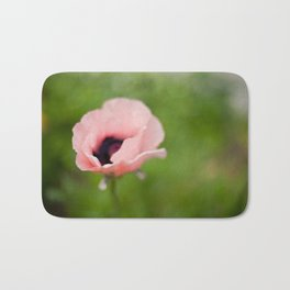 Peachy poppy Bath Mat
