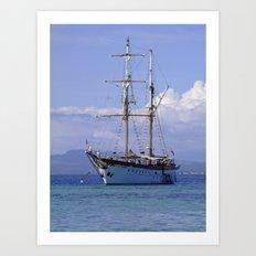 Ra Marama, brigantine tall ship, Fiji Art Print