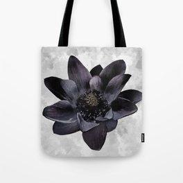 Black Lotus Watercolor Digital Art Tote Bag