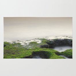 """""""Green, white and red beach"""" Rug"""