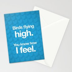 Birds flying high. Stationery Cards