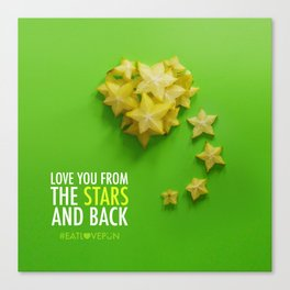 Love You from the Stars and back Canvas Print