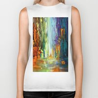 waterfall Biker Tanks featuring Waterfall by sophtunes