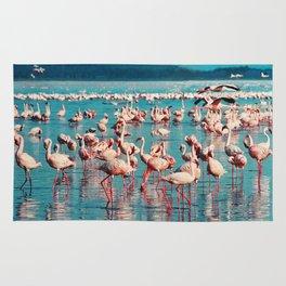 Pink flamingos Rug