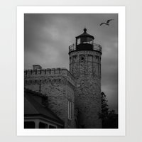 Colonial Michilimackinac Lighthouse Art Print