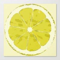 lemon Canvas Prints featuring Lemon by Avigur