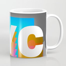 NYC colorful print design Coffee Mug