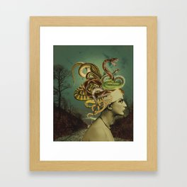 ANOTHER BAD HAIR DAY Framed Art Print