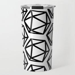 D20 Pattern Large Travel Mug