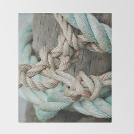 TIED TO THE MOORING #1 Throw Blanket