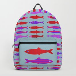 Colorful fish school pattern Backpack