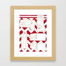 Seaside Stripes Slopers Framed Art Print