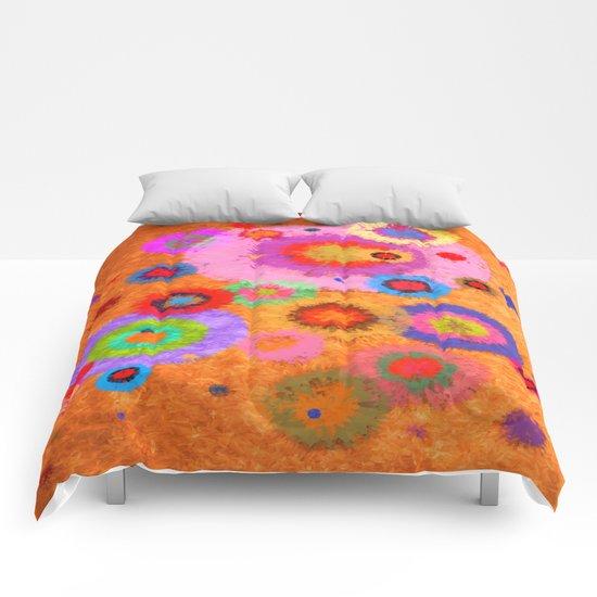 Abstract #427 Splirkles #4 Comforters