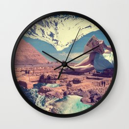Reading a magazine in Egypt Wall Clock