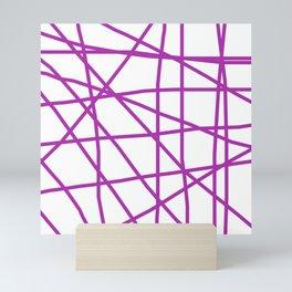 Doodle (Purple & White) Mini Art Print