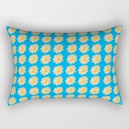 Golden Daisy Swimming in Blue Rectangular Pillow
