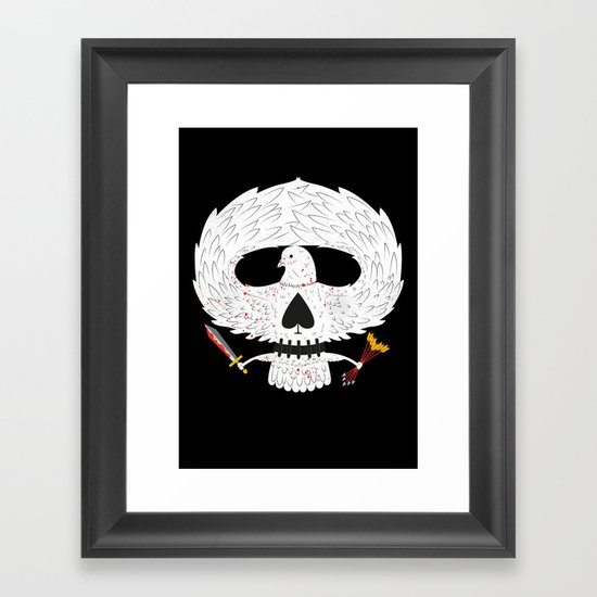 Dove of Death Framed Art Print