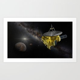 New Horizons approaching Pluto and Charon Art Print