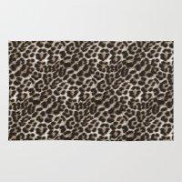 snow leopard Area & Throw Rugs featuring Snow Leopard by Addington Blythe/Legion XXI