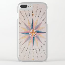 Vintage Compass Rose Diagram (1773) Clear iPhone Case