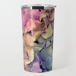 Soft Multi Color Hydrangea Travel Mug