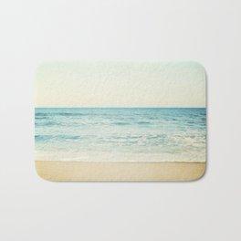 Ocean Landscape Art, Sea Photography, Aqua Seascape, Calming Ocean Horizon Photo Bath Mat