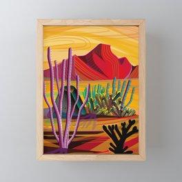 Love Mountain Framed Mini Art Print