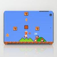 mario bros iPad Cases featuring Super Mario Bros by Trash Apparel