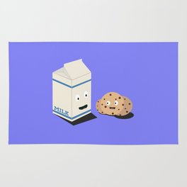 Cookies and Milk best friends Rug