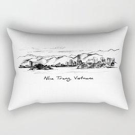 Nha Trang Skyline Rectangular Pillow