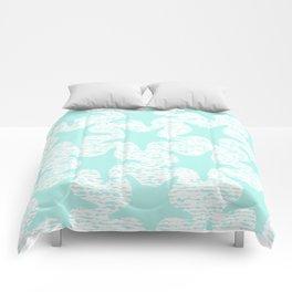 turquoise starfish pattern Comforters