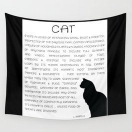 Cat Defined Wall Tapestry