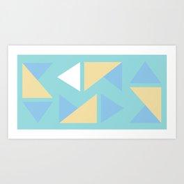 Pastel palette triangle origami Art Print