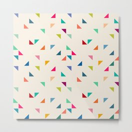 Seamless geometric pattern with triangles Metal Print