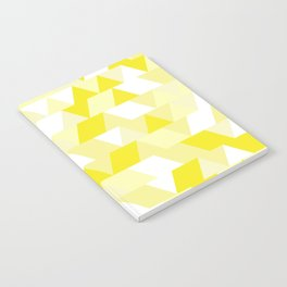 Simple Geometric Triangle Pattern - White on Yellow - Mix & Match with Simplicity of life Notebook
