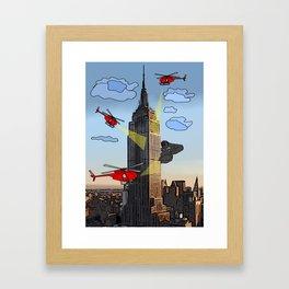 EMPIRE STATE COMIC Framed Art Print