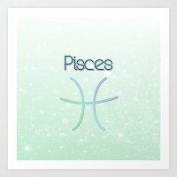 Pisces Gradient Art Print