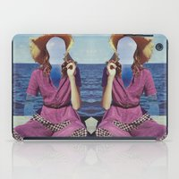 dress iPad Cases featuring checkered dress by marzesu collages