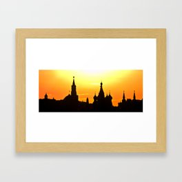 silhouette of Moscow Framed Art Print