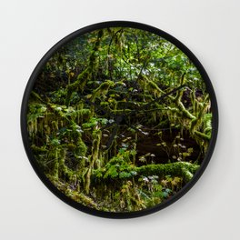 Deep in the rain forest Wall Clock