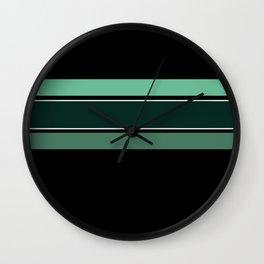 Team Colors 2...dk.green.light green , lighter green Wall Clock