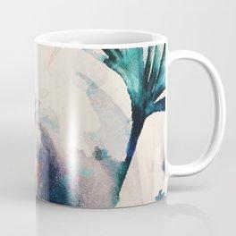 Watercolor Flowers on canvas Coffee Mug