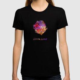 Sierra Leone  in watercolor T-shirt