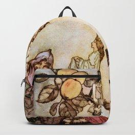 """A Dish of Apples"" Fairy Art by Arthur Rackham Backpack"