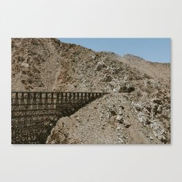 Wooden Trestle and Tunnel Canvas Print