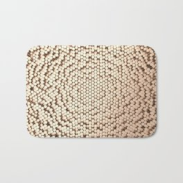 Pattern of brushed copper cylinders Bath Mat