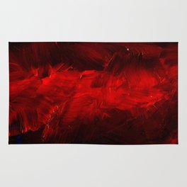 Red And Black Abstract Gothic Glam Chic Rug